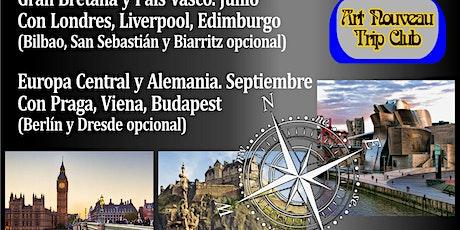 """""""Viajes al  Art Nouveau 2020"""" conferencia audiovisual invitación AANBA entradas"""