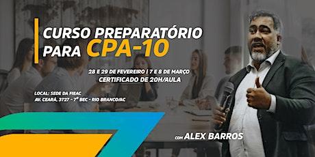 Preparatório Certificação CPA-10 ingressos