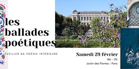 Première * Ballade Poétique au Jardin des Plantes tickets