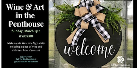 Wine & Art Creative Afternoon - Welcome Sign tickets