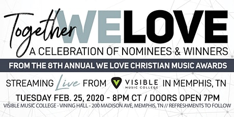 2020 LIVE We Love Christian Music Awards Show  tickets