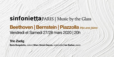 ⟪Music by the Glass⟫ Série saison de printemps: Samedi, 27 mars 2021 | 20h tickets