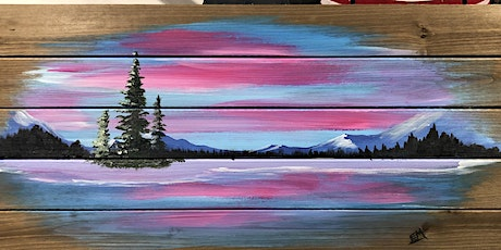Rustic wood paint Night BANFF tickets