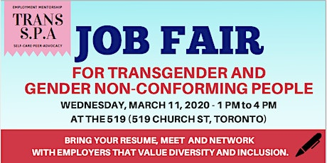 Job Fair for Transgender and Gender Non-Conforming People tickets