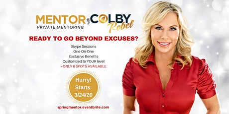 MENTOR WITH COLBY-Spring Series 2020 tickets