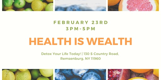 Health is Wealth Community Event