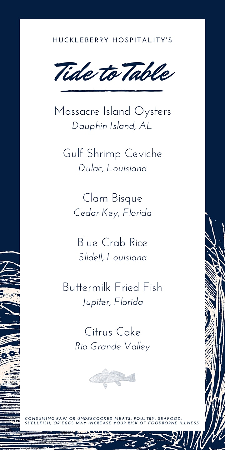 """Huckleberry Presents """"Tide to Table"""" A Pop-Up Dinner at The Brewer's Table image"""