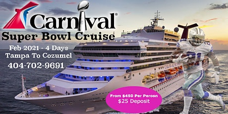 2021 Super Bowl Cruise Tampa To Cozumel tickets
