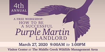 Free Workshop: How to Be a Successful Purple Martin Landlord