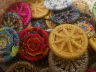 Learn to Weave a Dorset Button-Workshop tickets