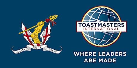 Honourable Artillery Company Toastmasters: Inspirational Speech workshop tickets