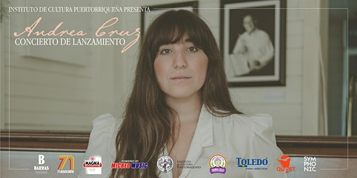Andrea Cruz en concierto de pre-lanzamiento