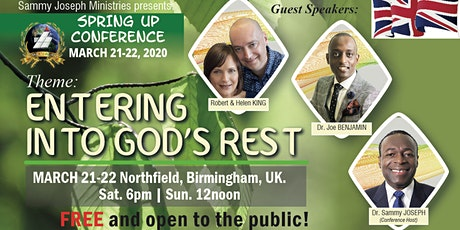 SpringUp Conference, Birmingham, ENGLAND | March 21-22, 2020. tickets