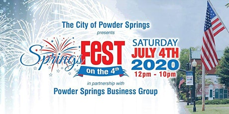 Powder Springs 2020 SpringsFest on the 4th tickets