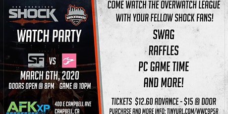 3/6 SF Shock Overwatch Viewing Party at AFKxp tickets