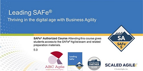 Leading SAFe 5.0 with SA Certification Boston by Savitha Katham tickets