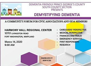 A Community Forum: Demystifying Dementia tickets