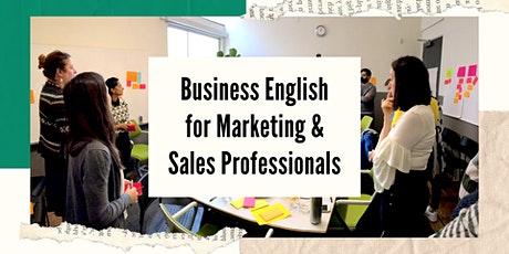 Business English for Marketing & Sales Professionals tickets