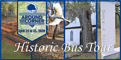 """Historic Bus Tour: 2020 Humanities Festival """"Around the Corner + All Over Berkeley County"""""""