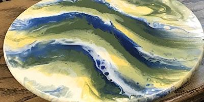 Fusion™ Mineral Paint - Lazy Susan Resin Paint Pour