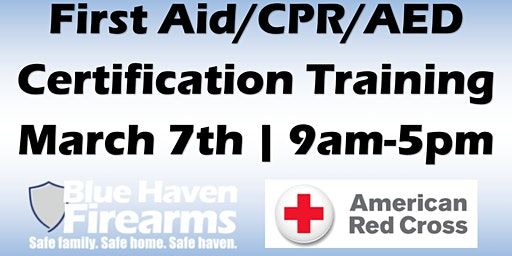American Red Cross First Aid/AED/CPR Class