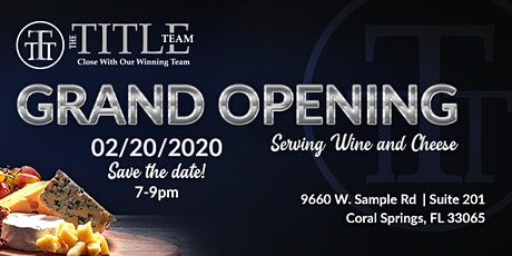 Grand Opening of our Coral Springs Office tickets