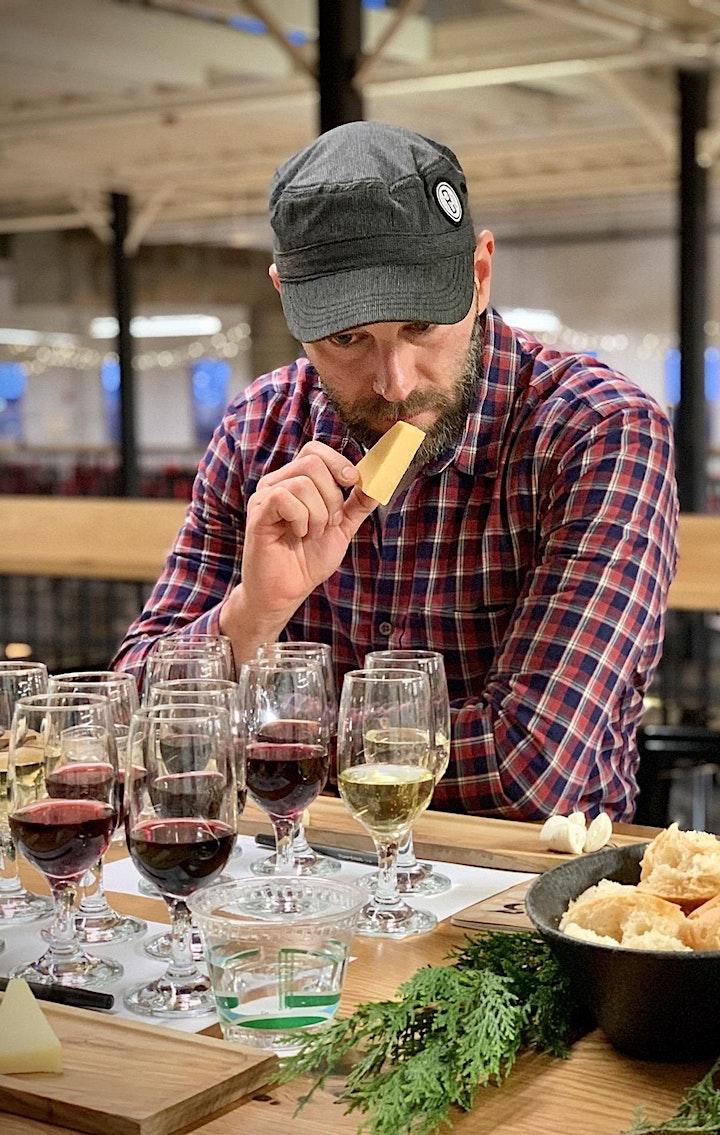 Cheese Tasting Class, Red Wine Pairing image