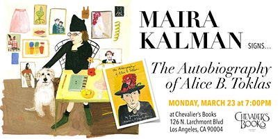 Maira Kalman signs 'The Autobiography of Alice B. Toklas'