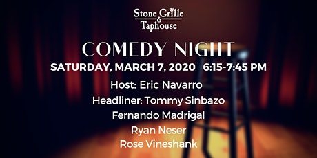 Comedy Night at Stone Grille & Taphouse Show 1 tickets