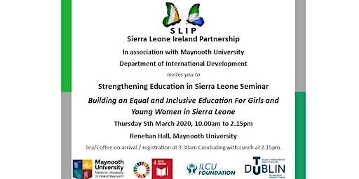 Education in Sierra Leone Seminar, Sierra Leone Ireland Partnership