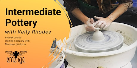 Intermediate Pottery w/ Kelly Rhodes: Monday PM Session tickets
