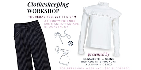The Art of Clotheskeeping | Workshop tickets