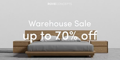 Rove Concepts Warehouse Sale in Vancouver