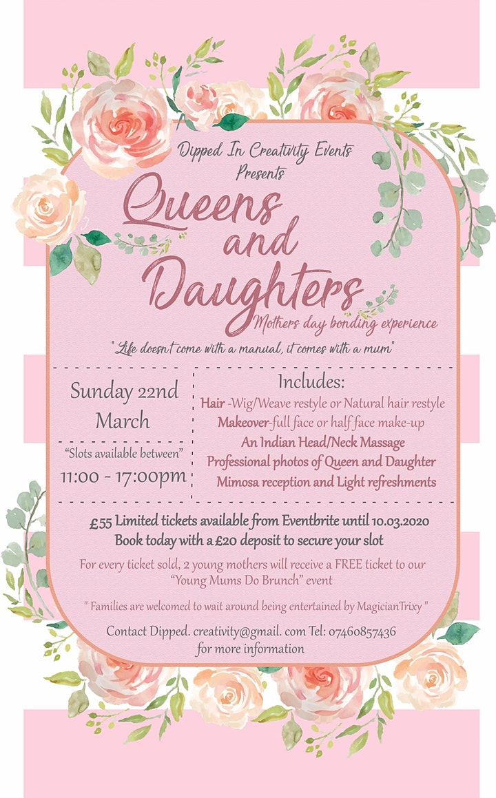 Queens and Daughters  - Mother's  Day Bonding and Pamper Experience image