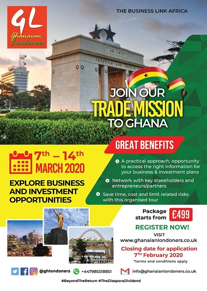 Trade Mission To Ghana  7th - 14th  March 2020 image