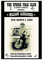 William Alexander at The Studio Folk Club, Armidale