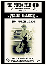 William Alexander at The Studio Folk Club, Armidale tickets