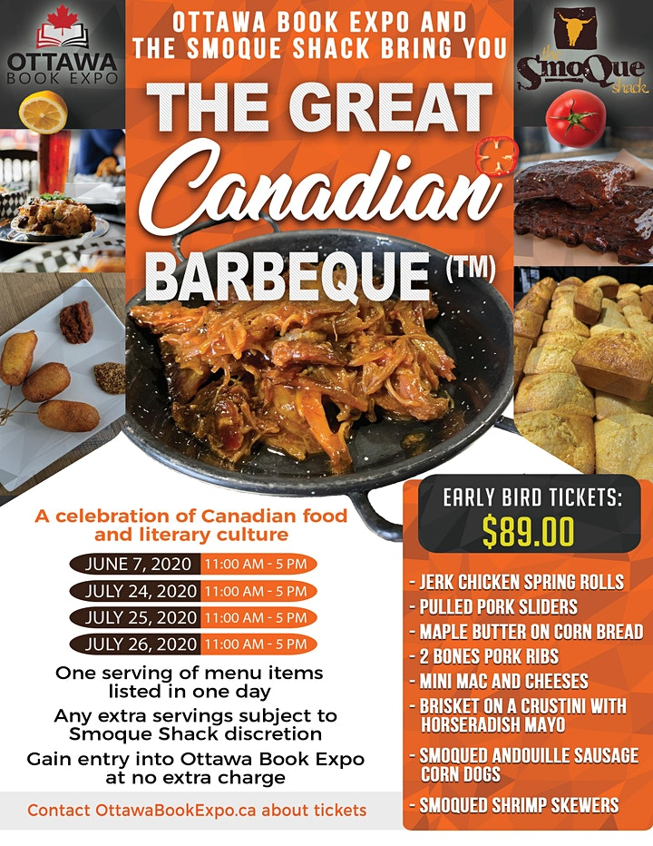 Great Canadian Barbeque - Ottawa Book Expo -Day 1 - 7 June 2020 image