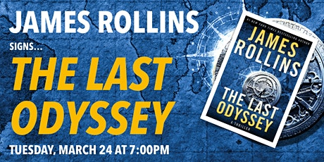 James Rollins signs 'The Last Odyssey' tickets