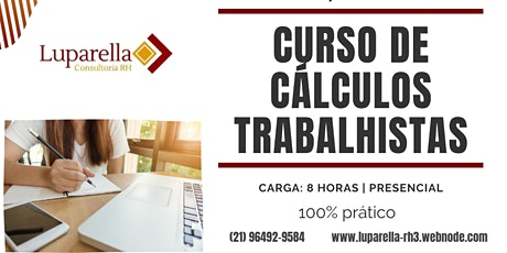 CENTRO/RJ - Curso de Cálculos Trabalhistas ingressos
