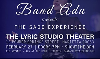 Band Adu presents - The Sade Experience