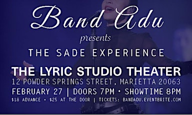 Band Adu presents - The Sade Experience tickets