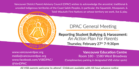 Reporting Student Bullying and Harassment: An Action Plan for Parents tickets