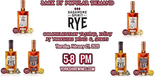Sagamore Spirit Rye Tasting Event