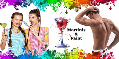 Martinis and Paint Party with a Male Model