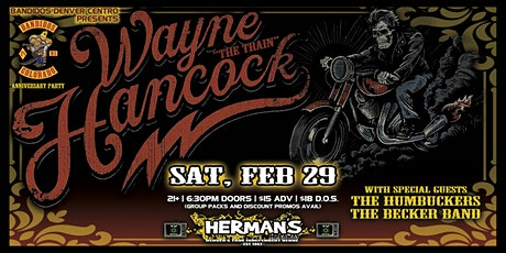 "WAYNE ""THE TRAIN"" HANCOCK w/ The Humbuckers 