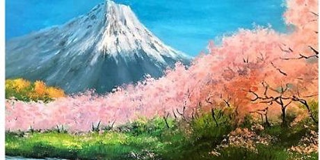 You Can Paint.I Promise-Cherry Trees at Mt. Fuji tickets