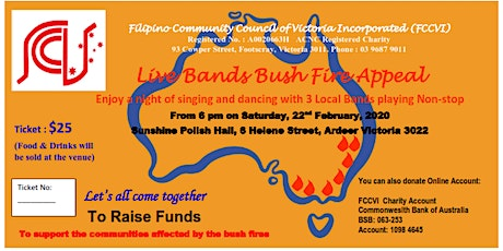 Live Bands Bush Fire Appeal tickets