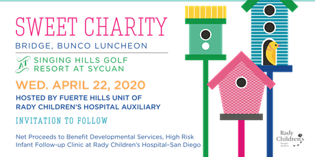 Sweet Charity Bunco, Bridge and Lunch  tickets