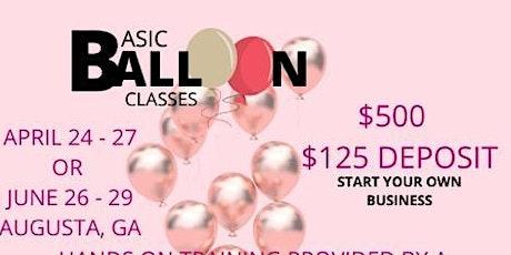 Basic balloon Decor class for beginners tickets